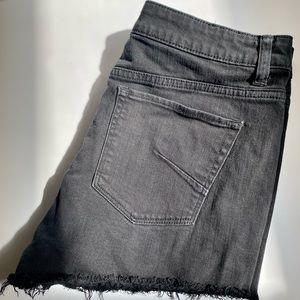 Aritiza Talula Black Denim Shorts